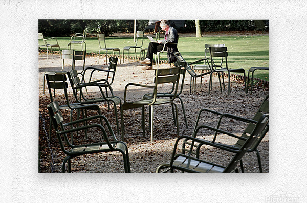Chaises du Luxembourg   2  Metal print