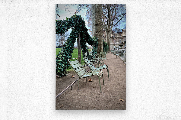 Chaises du Luxembourg   7  Metal print