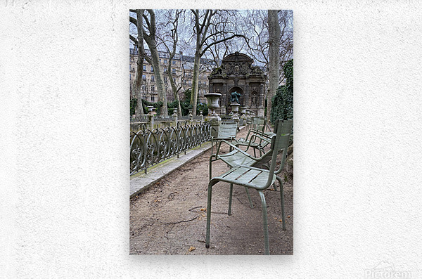 Chaises du Luxembourg   10  Metal print