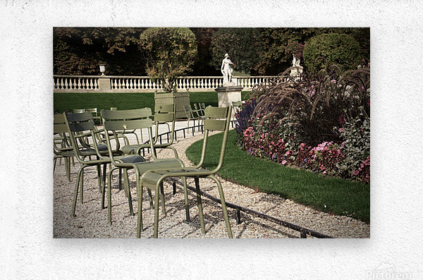 Chaises du Luxembourg   8  Metal print