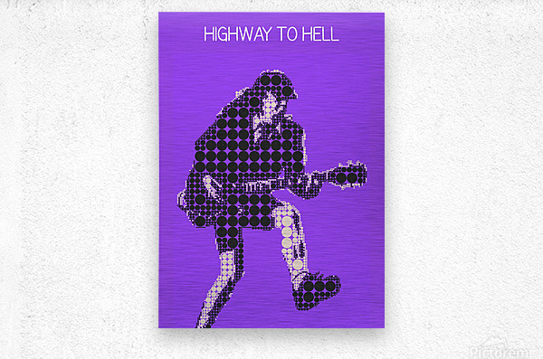Highway to Hell   Angus Young  Metal print
