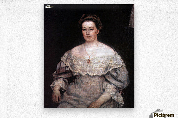 Portrait of A. P. Yurgenson  Metal print