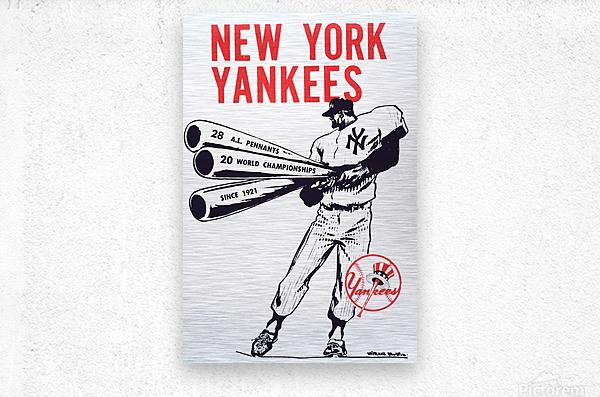 Artist Willard Mullin New York Yankees Art Poster  Metal print