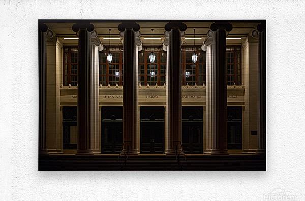 Night Pillars  Metal print