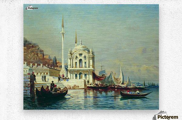 Constantinople - 1860  Metal print