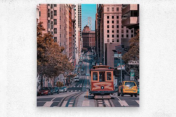 San Francisco City Scene  Metal print