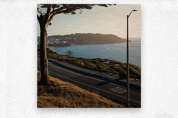 Sunset On San Francisco Coast  Metal print