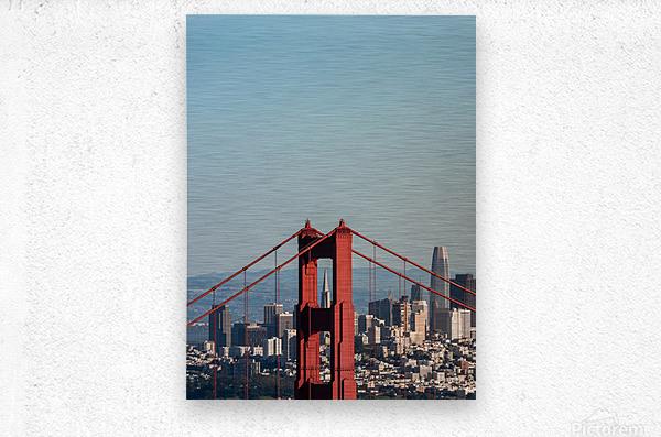 Threading the Needle - Golden Gate Bridge  Metal print