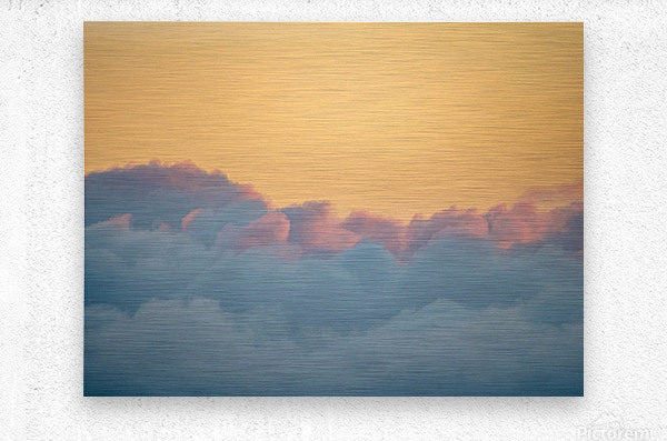 Clouds at Sunset  Impression metal