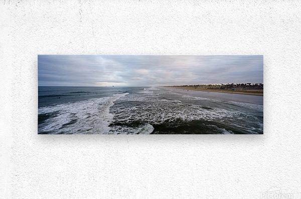 Huntington Beach Panorama  Impression metal