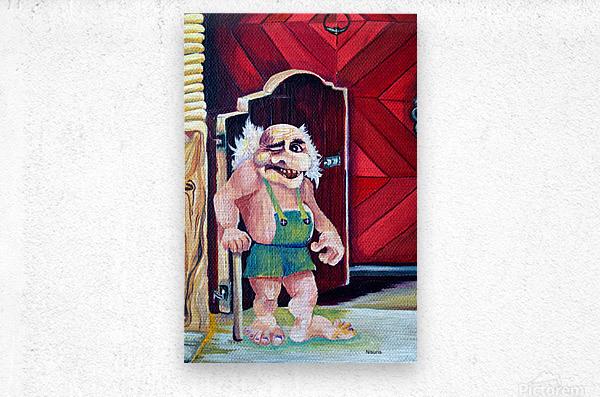 Scandinavian Folklore Troll Artwork   Metal print