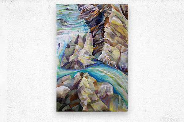Rocky Mountains Crystel River Colorado  Metal print
