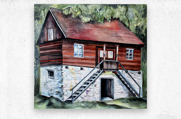 Romania Transylvania Historical Traditional House  Metal print