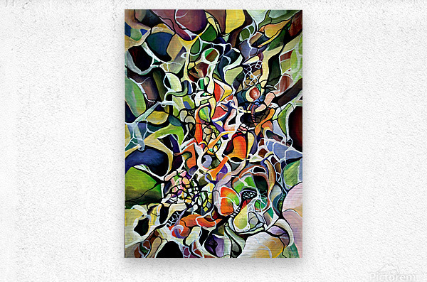 Subconsciousness Toughts in Maximalism Contemporary  Metal print