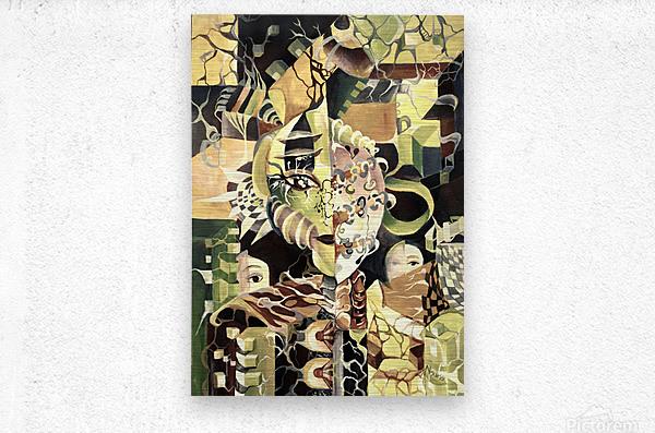 Pop Currealism Contemporary Utopia  Metal print
