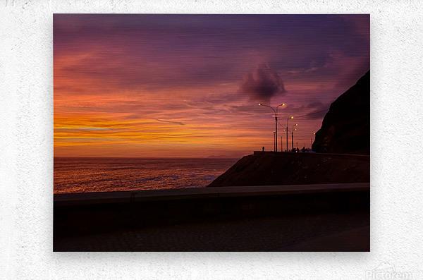 Costa Verde Sunset   Metal print