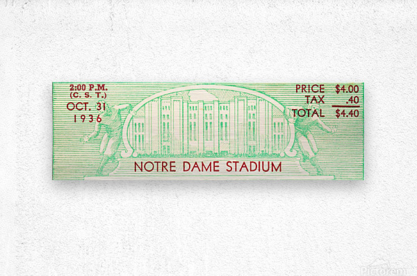 notre dame football fathers day gifts  Metal print