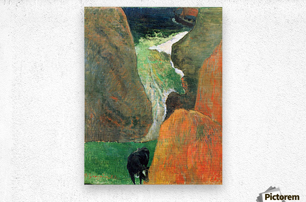 Hover Above the Abyss by Gauguin  Metal print