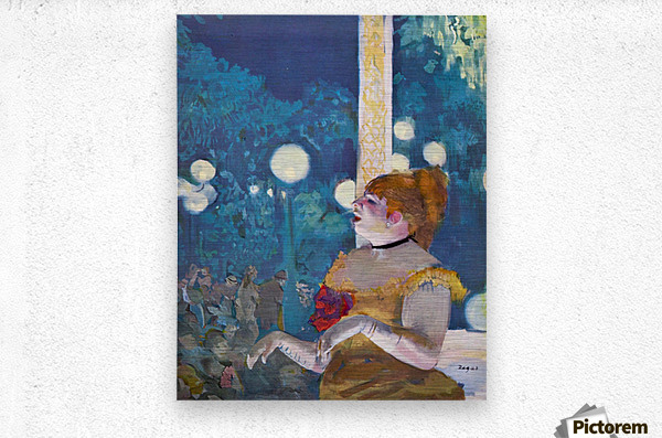 In concert Cafe - The Songs of the dog by Degas  Metal print
