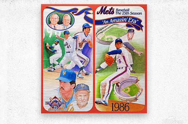 1986 New York Mets  Metal print