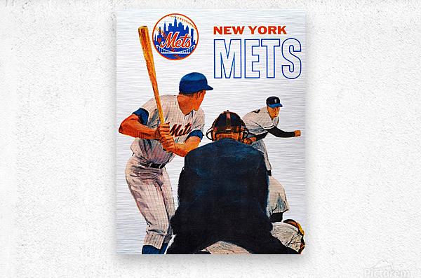 retro new york mets poster  Metal print