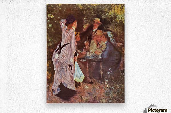 In the Garden (in the garden bower of Moulin de la Galette by Renoir  Metal print