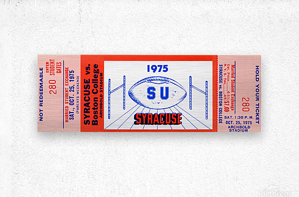 1975 Syracuse vs. Boston College  Metal print