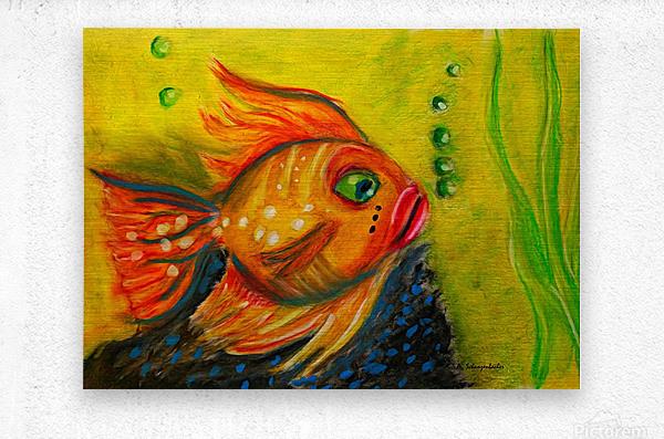 Gold Fish  Metal print