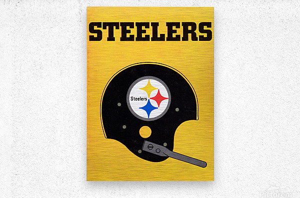1968 Pittsburgh Steelers Helmet Poster  Metal print