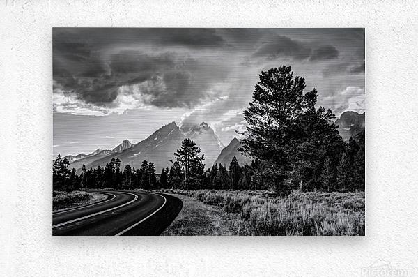 Grand Teton National Park Storm - Jackson Hole - Wyoming  Metal print