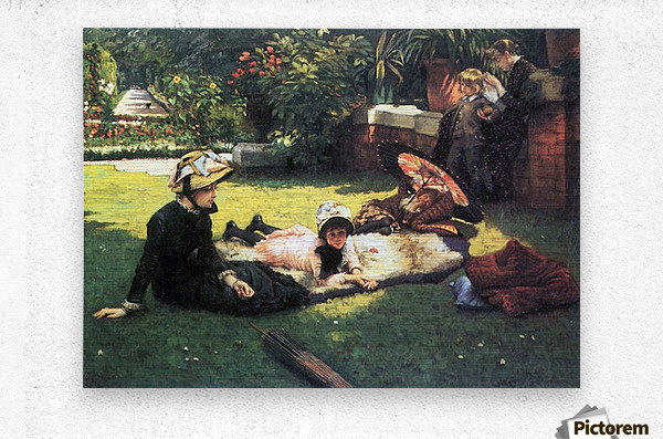 In the sun by Tissot  Metal print