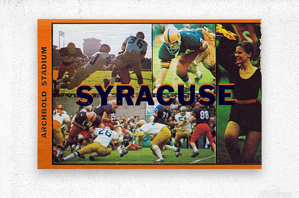 Vintage Syracuse Ticket Art  Metal print
