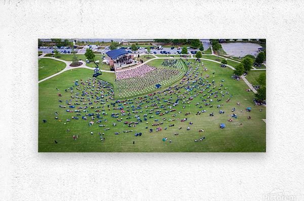 Lakeside High Class of 2020   Graduation Aerial View 0728 05 30 20 2  Metal print