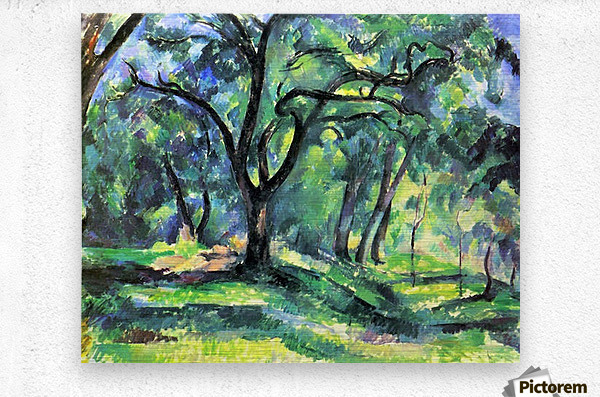 In the Woods by Cezanne  Metal print