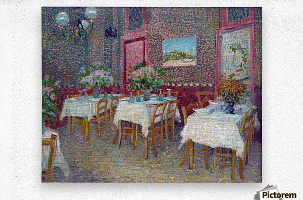 Interior of a Restaurant by Van Gogh  Metal print
