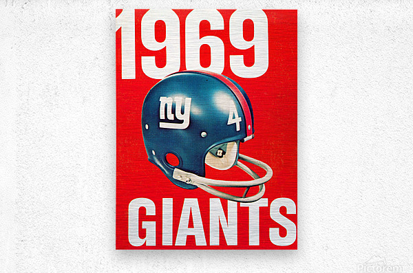 1969 new york giants football poster  Metal print