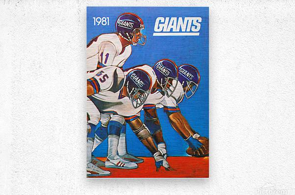 1981 new york giants  Metal print