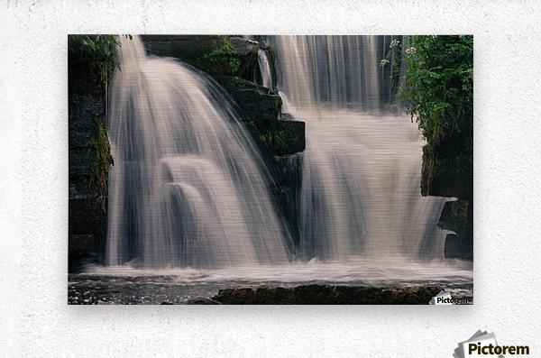 Waterfalls in Penllergare woods  Metal print