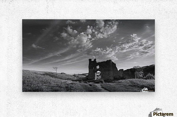 Pennard castle Gower  Metal print