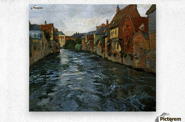 Riverside, View of Abbeville  Metal print