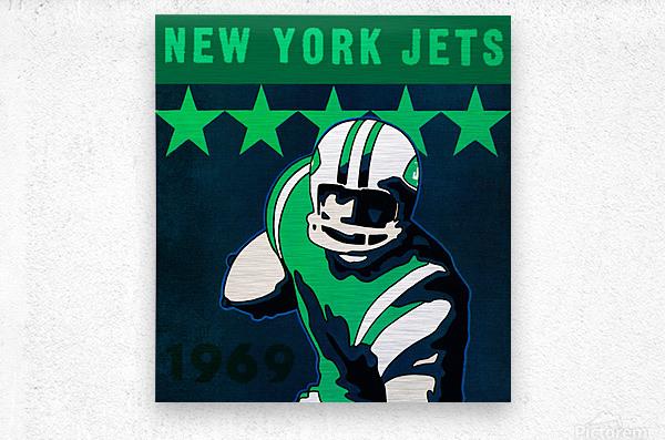 1969 new york jets  Metal print