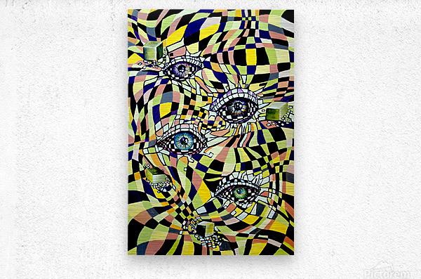 All Seeing Eye in Pop Surrealism   Metal print
