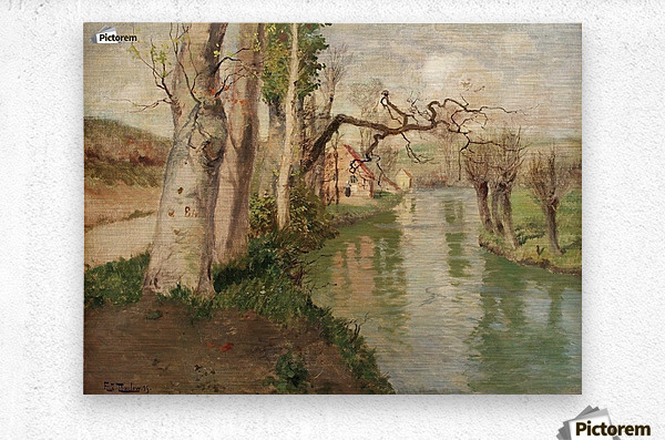 From Dieppe to Arques River  Metal print