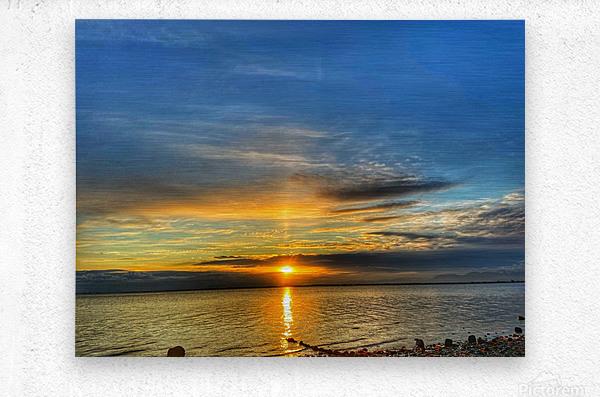 Ocean Sunsets  Impression metal