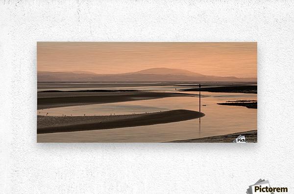 Loughor estuary at dusk  Metal print