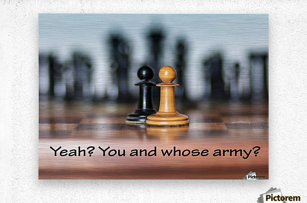 Chess battle  Metal print
