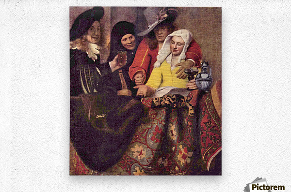 Kupplerin by Vermeer  Metal print