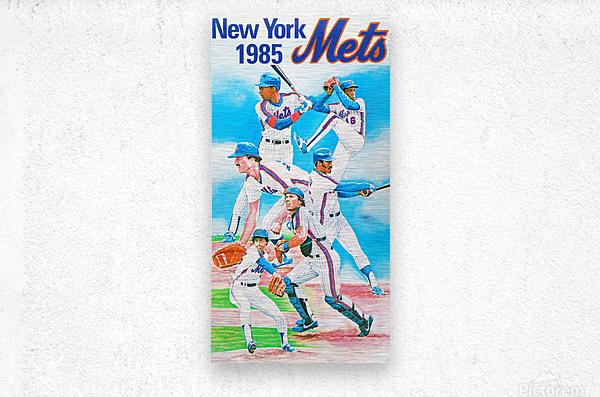 1985 new york mets baseball poster  Metal print