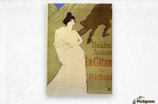 La Gitane de Rechepin by Toulouse-Lautrec  Metal print