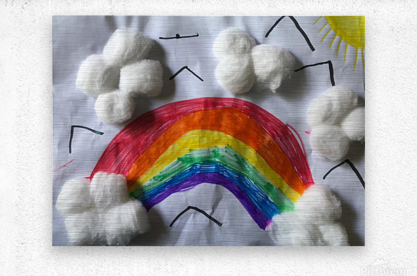 Nola rainbow  Metal print